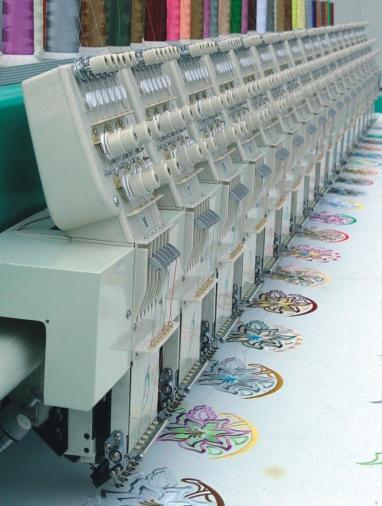 Modern flat embroidery machine xd lian he china