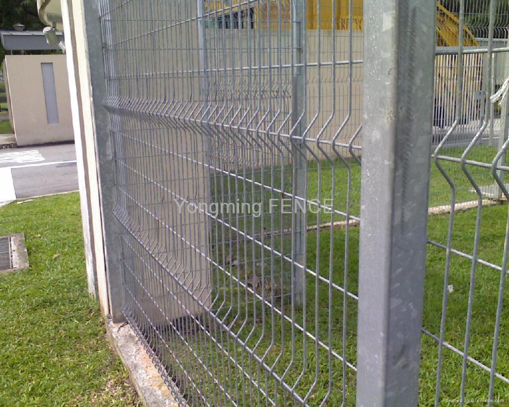Powder coated welded fence panels ym china