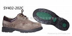 低帮防砸抗静电耐酸碱工作鞋