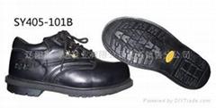 牛皮防刺穿耐酸碱耐磨工作鞋