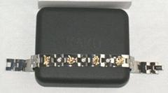 KAKU純鈦鍍金2粒金屬鍺手鏈