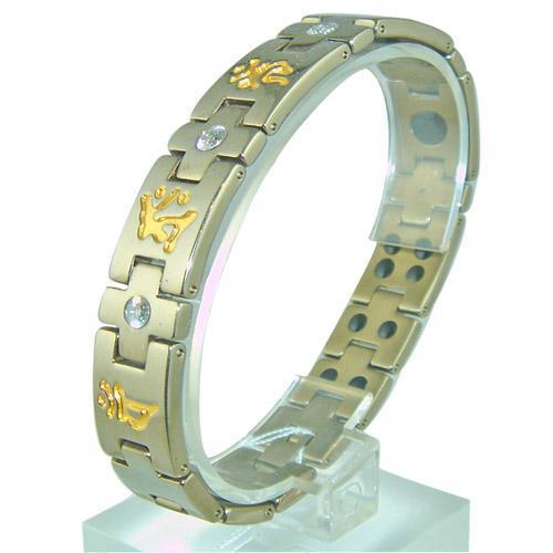 KAKU純鈦鍍金2粒金屬鍺手鏈 2