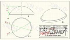 光學玻璃 LED透鏡 18MM