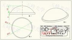 光學玻璃 LED透鏡 40MM
