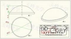 光學玻璃 LED透鏡 50MM