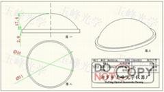 光學玻璃 LED透鏡 51MM