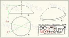 光學玻璃 LED透鏡 54MM