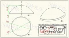 光學玻璃 LED透鏡 67MM