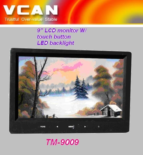 9'' LCD monitor W/ touch butto 1