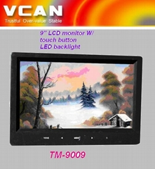 9'' LCD monitor W/ touch butto