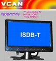 7'' slim digital TV built in ISDB-T