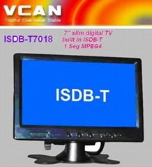 7'' slim digital TV built in ISDB-T