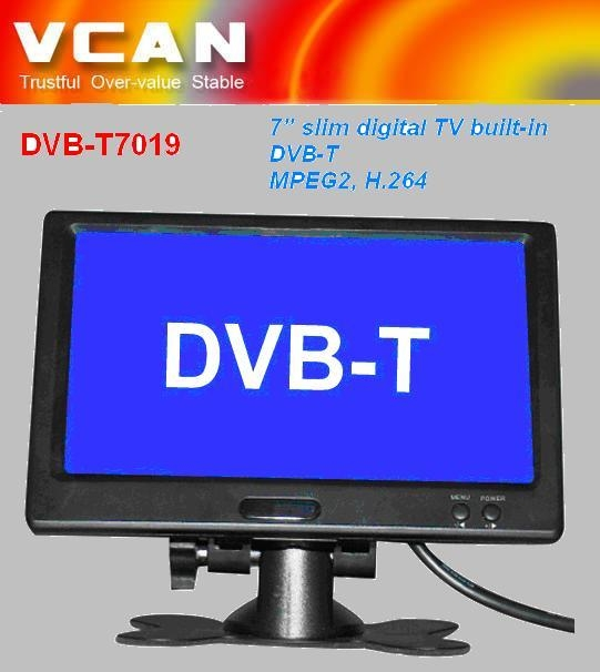 7'' slim digital TV built-in DVB-T 1