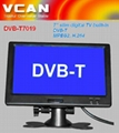 7'' slim digital TV built-in DVB-T