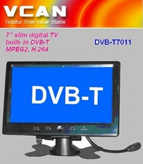 "7"" slim digital TV built-in DVB-T"