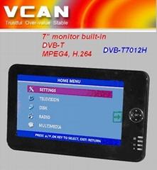 7'' VGA monitor built-in DVB-T
