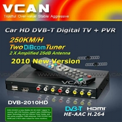 Car HD DVB-T Digital TV +PVR