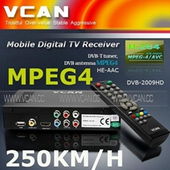 Car HD DVB-T receiver With MPEG4