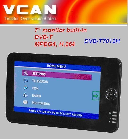 7'' VGA monitor built-in DVB-T  2