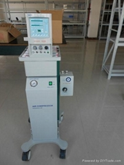 TKR-400A infant ventilator with air compressor and air-oxygen mixer