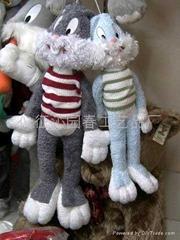 毛絨兔挂件