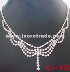 Rhinestone necklace, bridal jewelry XL-1392