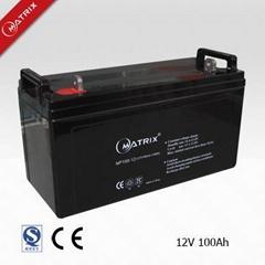 valve regulated lead acid battery 12V100AH