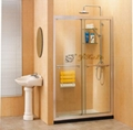 Double sliding doors shower screen QJ42