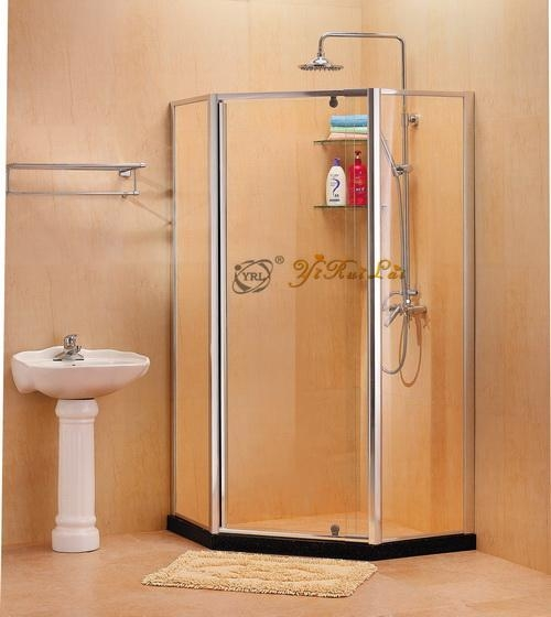Diamond shape tempered glass shower enclosure QF31 1
