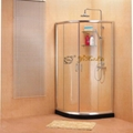 Tempered glass sliding shower enclosure