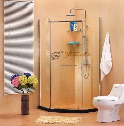 Diamond shape tempered glas shower enclosure QE31 1