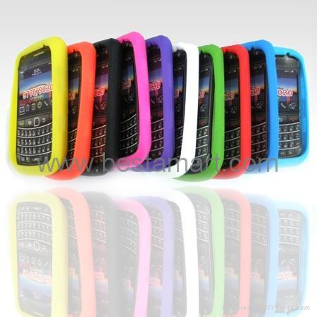 Silicone Silicon Case for Blackberry Curve 8300 8900 Gemini 8520 Bold 9000 9700 4