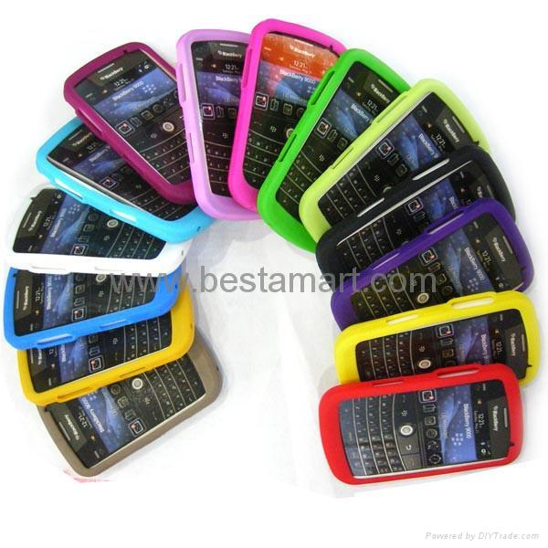 Silicone Silicon Case for Blackberry Curve 8300 8900 Gemini 8520 Bold 9000 9700 3