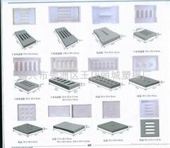 溝蓋板市政彩磚塑料模具