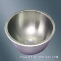 Round Single Bowl Stainless Steel Sink for RV