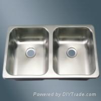 Equal Double Bowl Stainless Steel Sink for RV