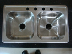 Equal Double Bowl Stainless Steel Kitchen Sink