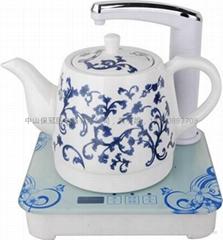 电热水壶自动抽水陶瓷水壶