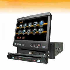 One Din Car DVD with 7inch TFT LCD,with Bluetooth