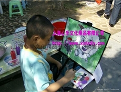 批发心乐DIY儿童水墨画