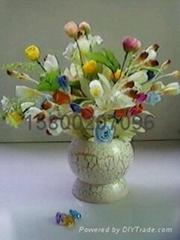 彩繪椰殼(花盆)工藝品