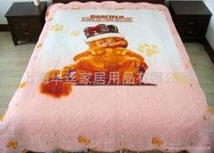 批发外贸全棉儿童卡通水洗绗缝被空调被绗缝地垫