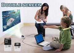best mini presentation projector / display 2 separate screens