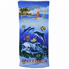 reactive print beach towel