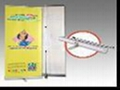 Aluminium flexible roller up banner