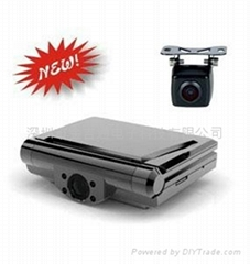 720P HD Double Camera / Car DVR  Black Box built in G-Sensor
