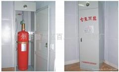 七氟丙烷櫃式自動氣體滅火系統100L