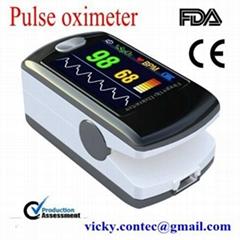 Color display  fingertip pulse oximeter