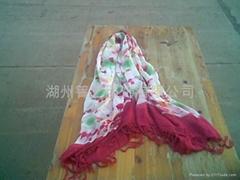 扎染真丝围巾