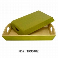 spun bamboo tray